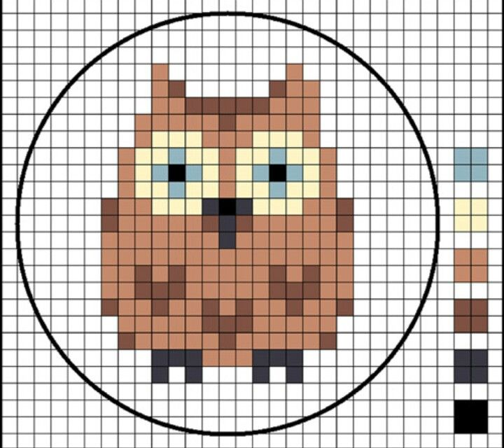 Owl, easy cross stitch pattern!