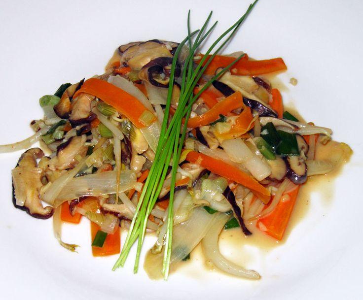Shiitake Asia Gemüse.