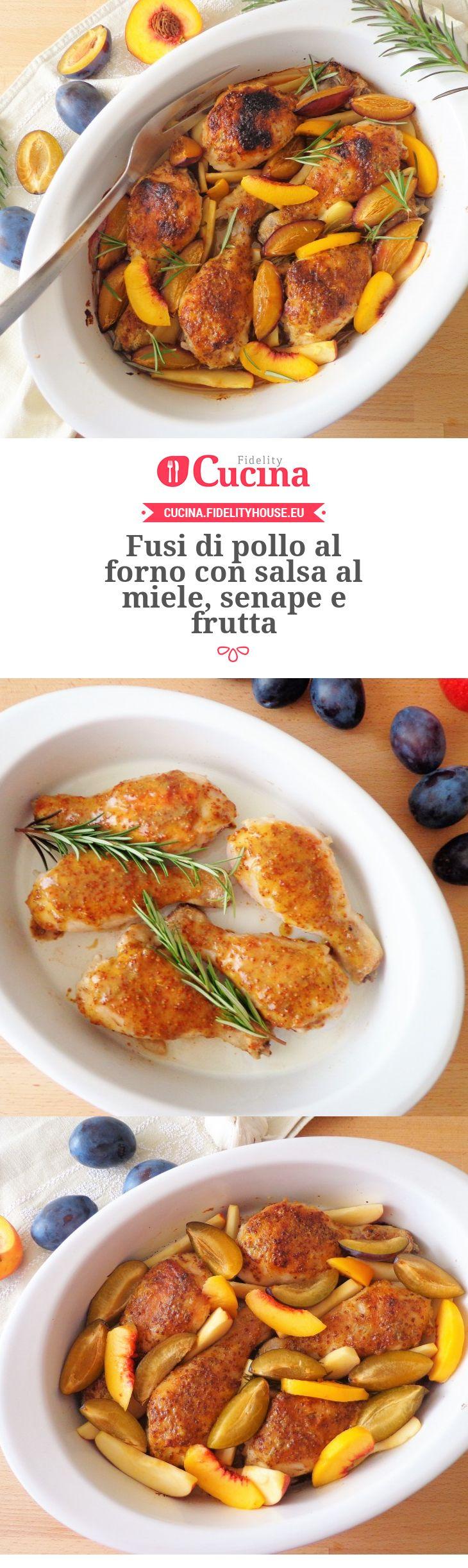 Fusi di #pollo al forno con salsa al #miele, #senape e #frutta della nostra utente Magdalena. Unisciti alla nostra Community ed invia le tue ricette!