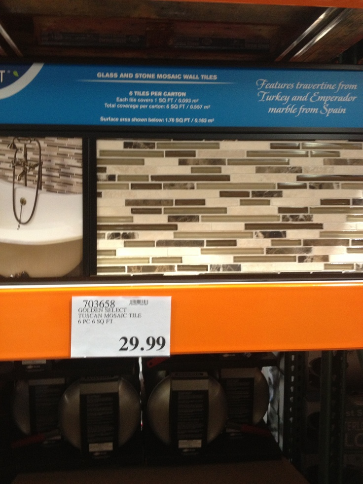 Kitchen backsplash (at Costco and way cheaper than the one we liked ...