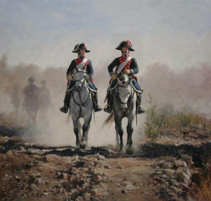 1805. Carabineros de la Brigada de Carabineros Reales.. Reinado de Carlos IV.
