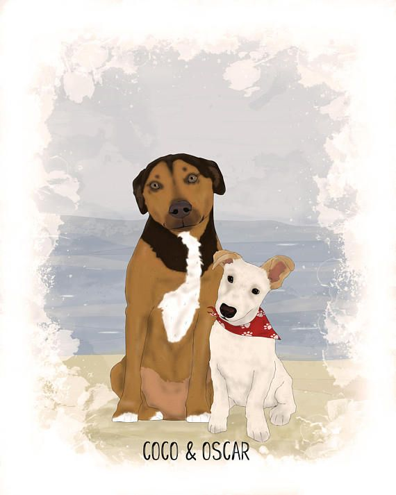 Custom Dog Portrait-Cartoon Dog Illustration-Custom Pet