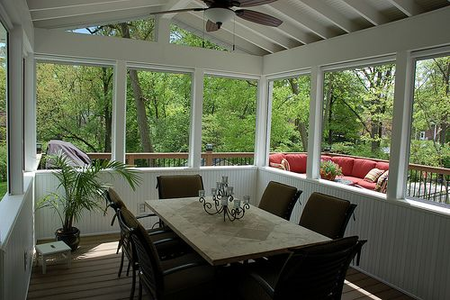 Very Open And Airy For A Smaller Deck Enclosure