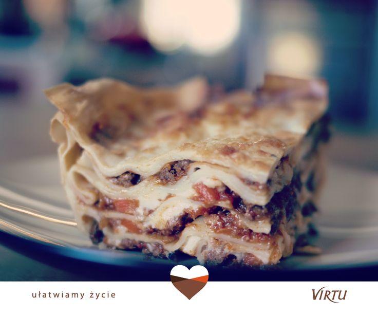 Nasze dania robimy tak, by naprawdę smakowały jak domowe! Przykład? Lasagne bolognese! :) #Virtu