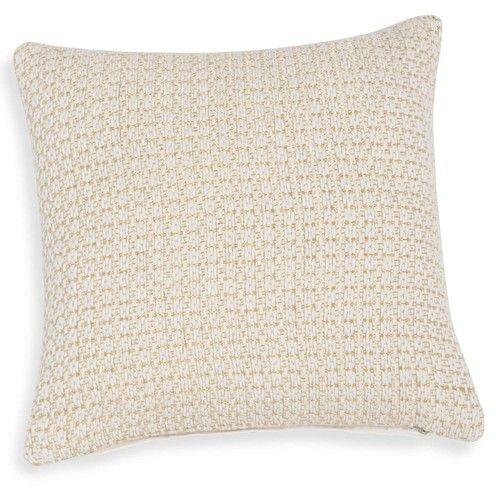 Fodera di cuscino di cotone bianco e fili dorati 40 x 40 cm IBIZA