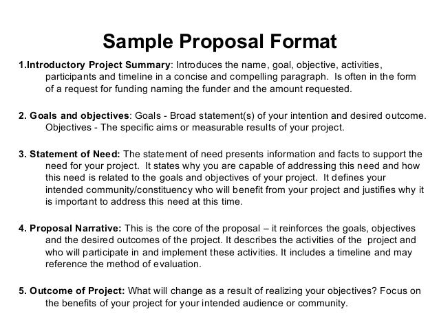 The  Best Project Proposal Example Ideas On