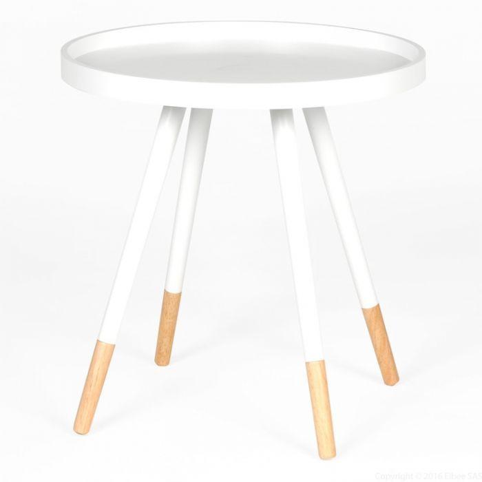 Table Basse Ronde Scandinave En Bois Blanc Elin Table Basse Ronde Fauteuil Design Confortable Table Basse