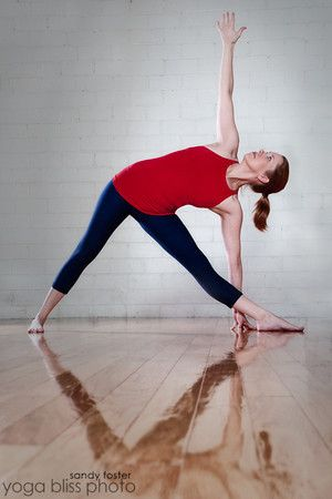 asana of the month extended triangle pose  utthita