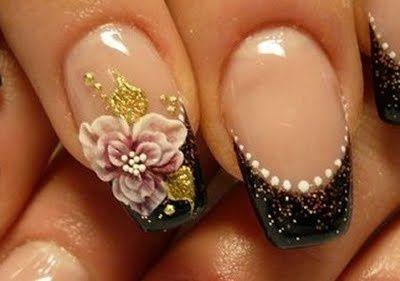 3 D nails art