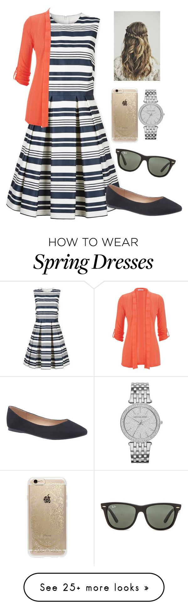 """Ready for Spring "" by jen1301 on Polyvore featuring RED Valentino, Lane Bryant, maurices, Rifle Paper Co, Michael Kors and Ray-Ban"