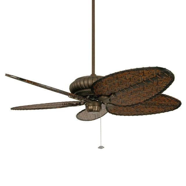 The all-weather Naples Outdoor Ceiling Fan in Aged Bronze is rated for dry, damp, and wet locations indoors or outdoors, making it the perfect way to cool any space. The finish on this fan's scalloped tropical-style motor is powder-coated for an authentic aged bronze look.  Five 22 blades with a 20 blade pitch3 forward and 3 reverse speedsReverse switch located on switch cupCeiling slope to 30 6 wet location downrod included