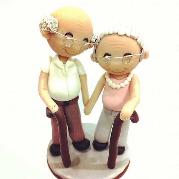 Elderly Wedding Cake Toppers