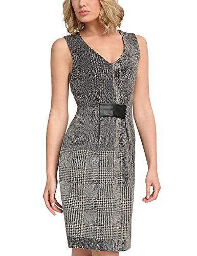 05086d52d2bd APART Fashion 62604 Vestito Donna Grigio Taupe-Schwarz 44
