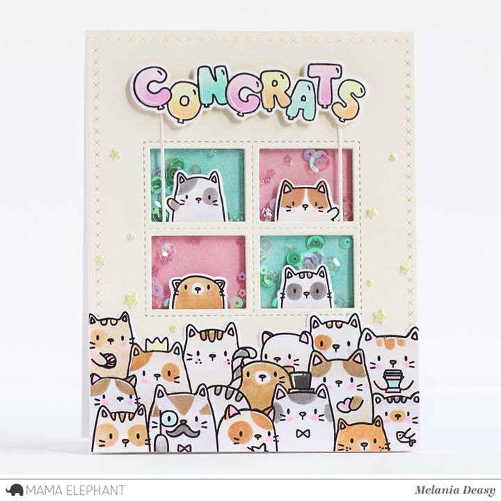 Hi all! Today I want to share my card for Mama Elephant  featuring The Cat's Meow  stamp set. This set is so cute!! I love it so much :)    ...