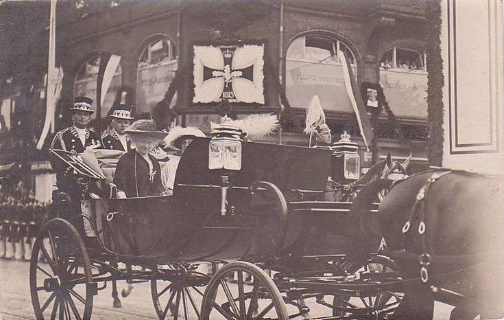 Cesarzowa Augusta Viktoria w trakcie wizyty we Wrocławiu w 1914 r.Dom Handlowy Podwale