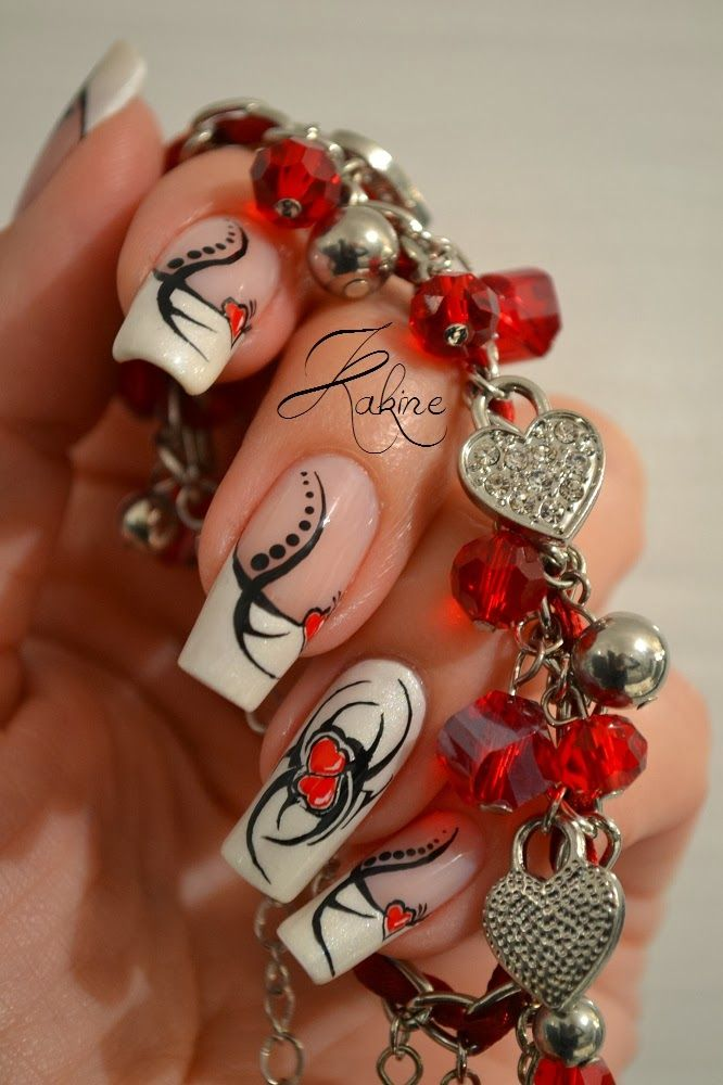 1000 id es sur le th me ongles saint valentin sur pinterest ongles ongles pour la saint - Ongle st valentin ...