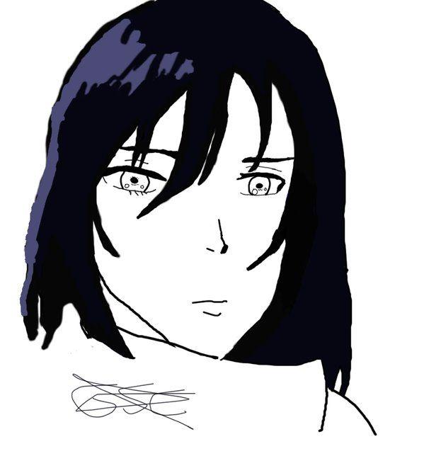 Dibujo a tableta de Mikasa de Shingeki no kyojjin (Ataque a los titanes).