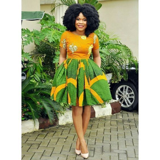 f35c5c54e76a0 Online Hub For Fashion Beauty And Health  Stylish And Lovely Short Ankara  Gown For The Cutie.