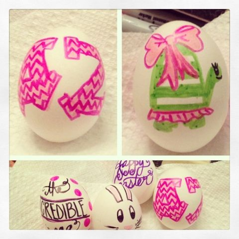 Bows, Pearls, and Southern Sorority Girls. this would be a cute easter sisterhood. decorating eggs