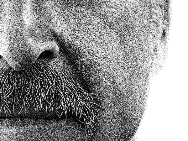 Million dot portraits by Benjamin Kyle