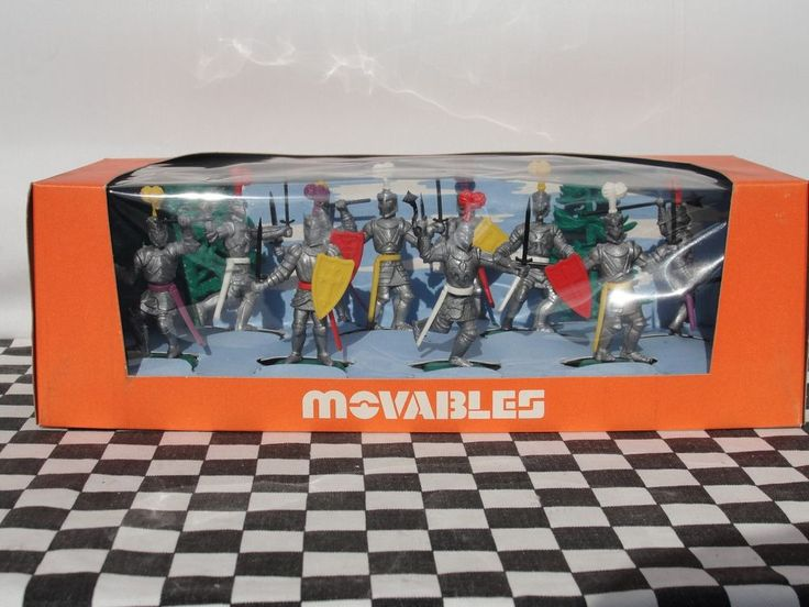 CRESCENT MOVABLES 1960'S MEDIEVAL KNIGHTS SET NO. 907  NEW OLD STOCK BOXED in Toys & Games, Toy Soldiers, Crescent | eBay!