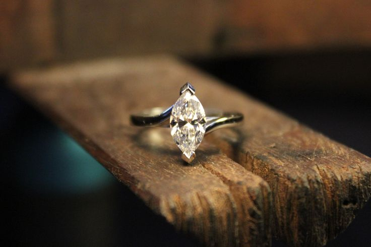 Engagement ring. Wedding jewellery. Hand-made in Melbourne. Platinum. Marquise diamond. #roseandcrownjewellers #diamond #hand-made  #craftsmanship