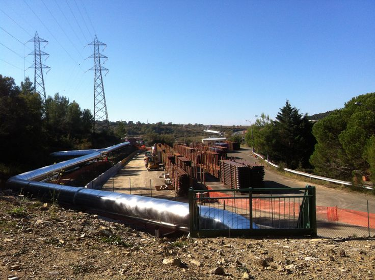 The largest geothermal field in continental Europe is in Tuscany, Italy: Larderello.