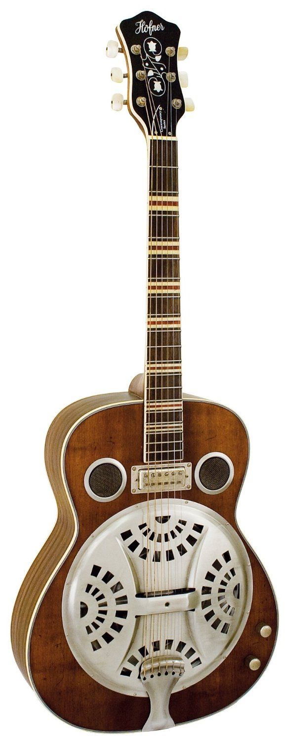 Hofner Resonator Guitar - Vintage Natural: Amazon.co.uk: Musical Instruments
