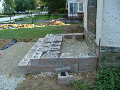 step construction kleinberg landscaping hardscaping and constructing steps in delaware county chester county - Front Steps Design Ideas