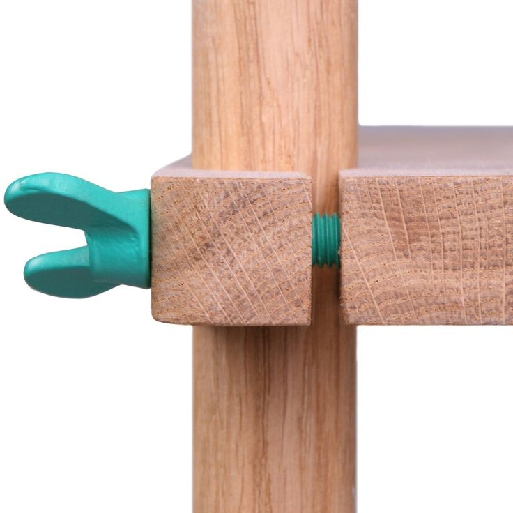 toque de color materiales: madera natural union: atornillado