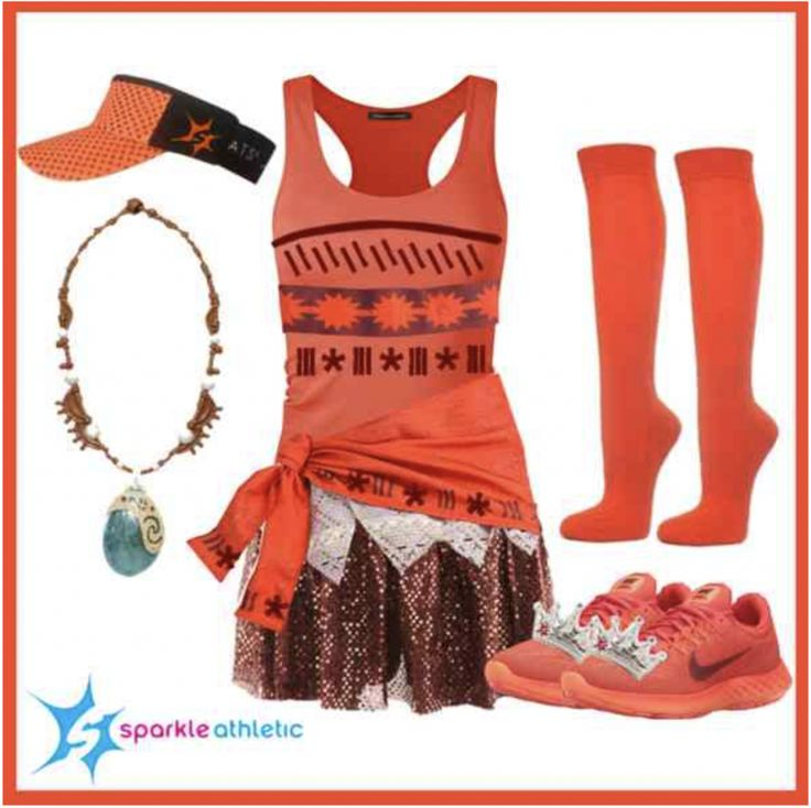 Moana Princess Running Costume | runDisney | Running | Race Costume | Disney | Sparkle Athletic | #TeamSparkle | Halloween | Athletic Costume | Princess
