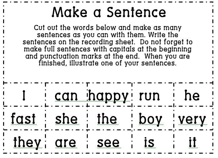 Make sentence with words online