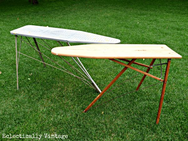 eclectically vintage:antique ironing boards