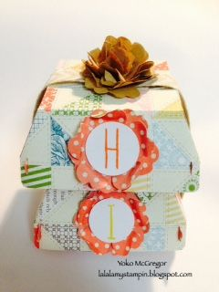 #punchitup - Hamburger box with Pansy punch flower