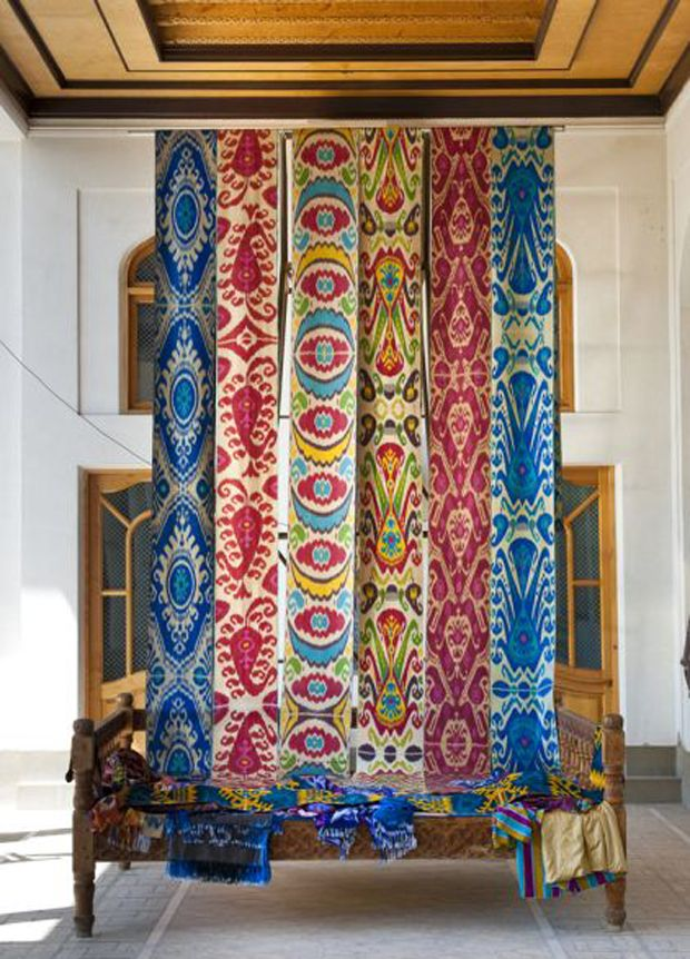 We are talking textiles on The Jungalow today! | Textile Treasury Uzbek Ikat