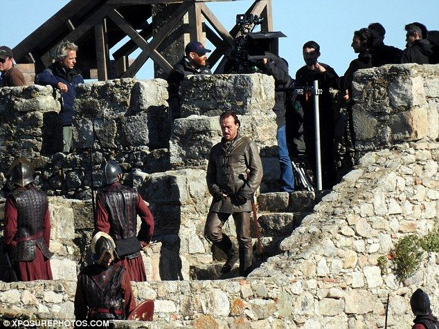 Welcome to Casterly Rock: Jerome Flynn and Nikolaj Coster-Waldau spotted shooting Game Of Thrones season 7 on the battlements of Trujillo Castle, Spain