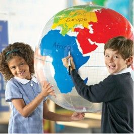 Learning Resources - Giant Hanging Inflatable Labelling Globe