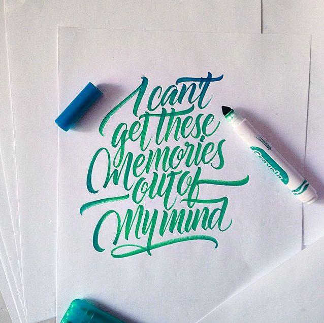 Crayola & Brushpen Lettering Set 2 on Behance