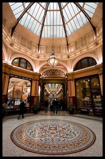 Block Arcade, Melbourne - There was a very dashing quartet signing and playing music when we were walking through
