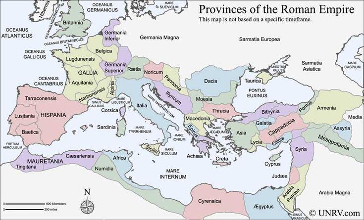 Roman Empire - provinces (no specific timeframe)