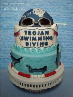 Swim Team Cake - Cake by Toni (White Crafty Cakes)