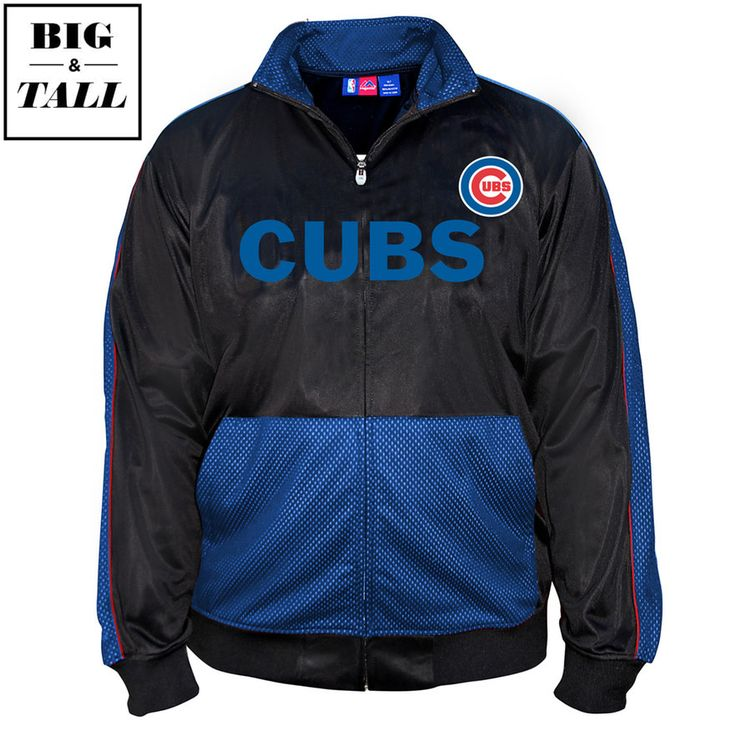 Chicago Cubs Big & Tall Tricot Track Jacket  #ChicagoCubs #Cubs #mlb  #flythew