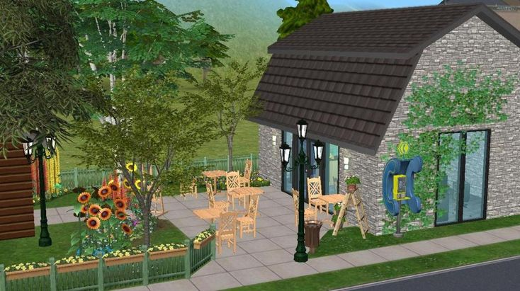 Mod The Sims - The Lupin Cafe - No CC
