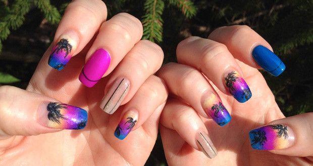 Nail Art Tropicale: Tutorial step by step - http://www.beautydea.it/nail-art-tropicale-tutorial-step-by-step/ - Nail Art Tropicale step by step: scopri come crearla per avere una manicure estiva stupenda!