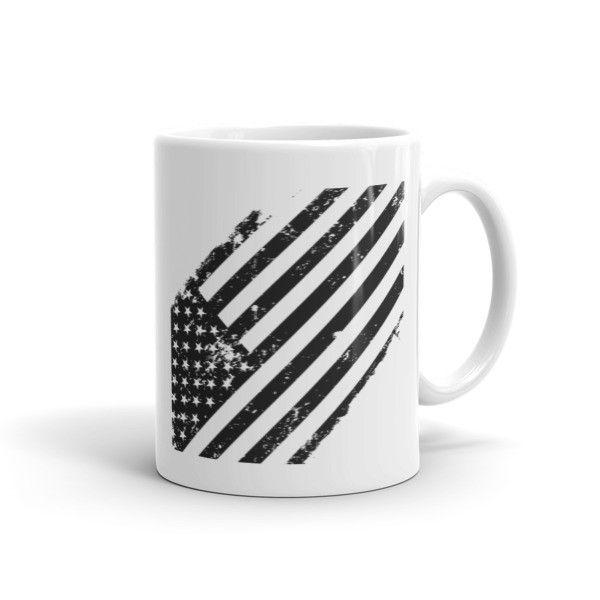 Black American Flag Mug