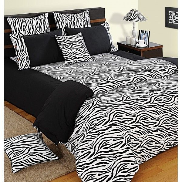 Black & White Zebra Print Duvet Covers, Comforters & Quilts- Shades of Paradise-2802