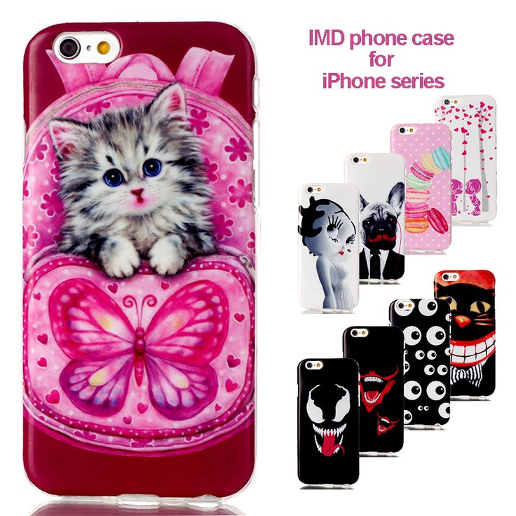>> Click to Buy << For iPhone 5 5C 6 6s case Fashion IMD Phone Cases cat Pattern Printing TPU Covers Soft Shell Full Housing Estuche coque celulare #Affiliate