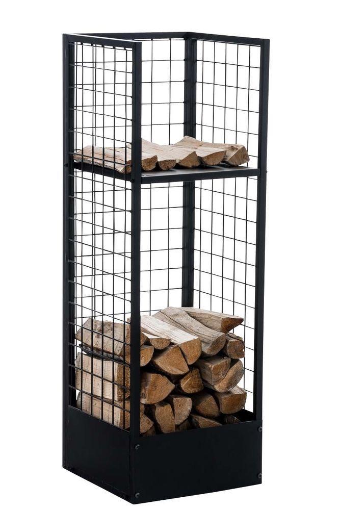 Firewood Rack Forrest Metal Log Basket Holder Grid Shelf Stacking Standing NEW! | eBay