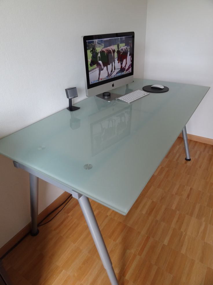 1000 ideas about glass top desk on pinterest large office desk contemporary office desk and - Glass office desk ikea ...
