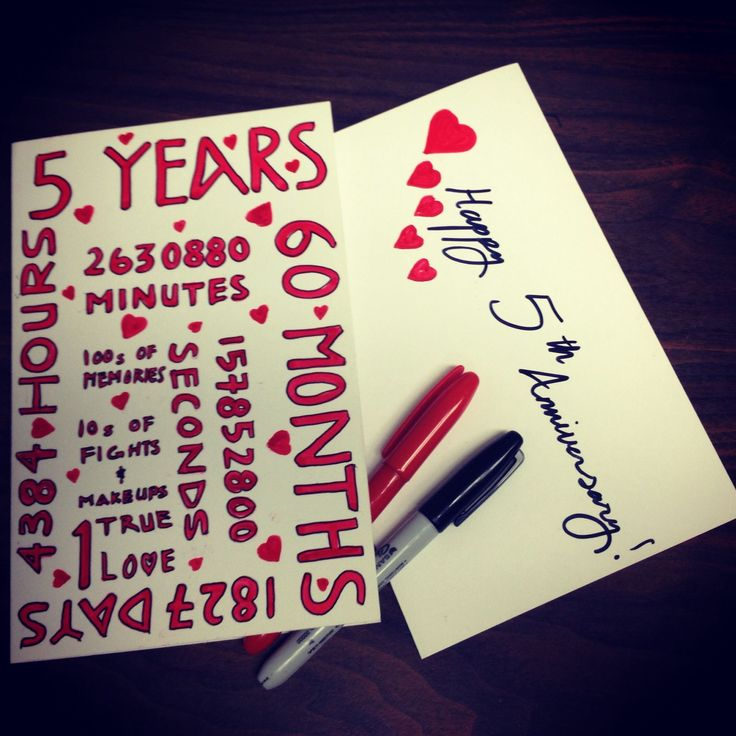 5th wedding anniversary card gift for husband wife five